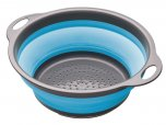 Colourworks Collapsible Colander with Grey Handles Blue
