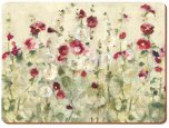 Creative Tops Premium Wild Field Poppies Standard Placemats (Set of 6)