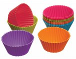 Colourworks Brights Silicone Cupcakes Cases 7cm, Pack of 12