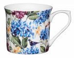 KitchenCraft Fluted Fine Bone China Mug 300ml - Country Floral