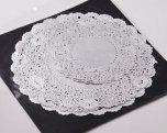NJ Products Assorted Silver Doilies 5/8/9