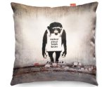 Kico Banksy 45x45cm Funky Sofa Cushion -  Bansky Chimp Personalised