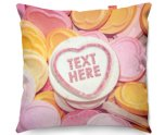 Kico Personalised 45x45cm Funky Sofa Cushion -  Candy Sweet Hearts