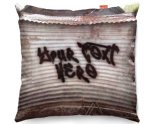 Kico Personalised 45x45cm Funky Sofa Cushion -  Graffiti Shed