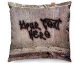 Kico Personalised 45x45cm Funky Sofa Cushion -  Graffiti Wall