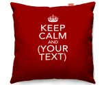 Kico Personalised 45x45cm Funky Sofa Cushion -  Keep Calm