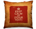 Kico Keep Calm Vintage 45x45cm Funky Sofa Cushion -  Keep Calm Personalised