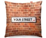 Kico Personalised 45x45cm Funky Sofa Cushion -  Street Sign UK