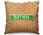 Kico Personalised 45x45cm Funky Sofa Cushion -  Street Sign US