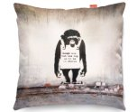 Kico Banksy 45x45cm Funky Sofa Cushion -  Chimp In Charge