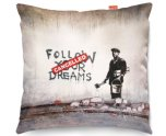 Kico Banksy 45x45cm Funky Sofa Cushion -  Dreams Cancelled