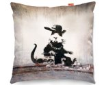 Kico Banksy 45x45cm Funky Sofa Cushion -  Rap Rat