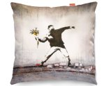 Kico Banksy 45x45cm Funky Sofa Cushion -  Thug Flowers
