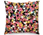 Kico Food & Drink 45x45cm Funky Sofa Cushion - Liquorice Allsorts