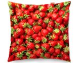 Kico Food & Drink 45x45cm Funky Sofa Cushion - Strawberries