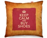 Kico Keep Calm Vintage 45x45cm Funky Sofa Cushion - Buy Shoes