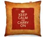 Kico Keep Calm Vintage 45x45cm Funky Sofa Cushion - Keep Calm