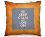 Kico Keep Calm Vintage 45x45cm Funky Sofa Cushion - Log On