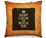 Kico Keep Calm Vintage 45x45cm Funky Sofa Cushion - Rock On