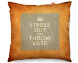 Kico Keep Calm Vintage 45x45cm Funky Sofa Cushion - Stress Out