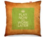 Kico Keep Calm Vintage 45x45cm Funky Sofa Cushion - Work Later