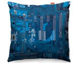 Kico Gaming 45x45cm Funky Sofa Cushion - Blue Circuit Board