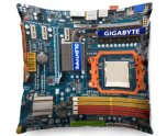 Kico Gaming 45x45cm Funky Sofa Cushion - Coloured Circuit Board
