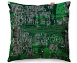 Kico Gaming 45x45cm Funky Sofa Cushion - Green Circuit Board