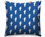 Kico Gaming 45x45cm Funky Sofa Cushion - Facebook Pattern