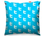 Kico Technology 45x45cm Funky Sofa Cushion - Twitter Pattern