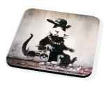 Kico Banksy Coaster - Rap Rat