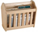 Apollo Housewares Rubberwood Magazine Rack