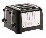 Dualit Lite 4 Slot Toaster in Gloss Black