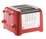Dualit Lite 4 Slot Toaster in Gloss Red