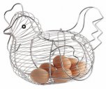 KitchenCraft Chrome Plated Wire Chicken Basket, 30cm x 25cm