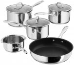 Stellar 7000 Draining 5 Piece Saucepan Set with Non-Stick Frying Pan