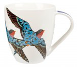 Queens By Churchill Couture Paradise Birds Crush Mug 500ml - Swallow