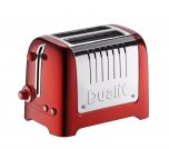 Dualit Lite 2 Slot Toaster in Metallic Red