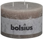Bolsius Pillar Candle With 3 Wicks Taupe 9cm x 14cm