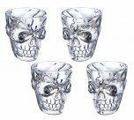 KitchenCraft Spookily Does It Plastic Skull Shot Glass Set of 4