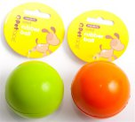 Petface Solid Rubber Ball 6.6cm Green / Orange