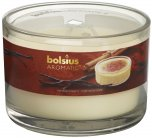 Bolsius Filled Glass Candle With 3 Wicks - Vanilla Cream