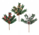 Premier Decorations Berry Cone Pick 26cm - Assorted