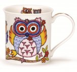Dunoon Bute Shape Fine Bone China Mug - Life's a Hoot - Flowers