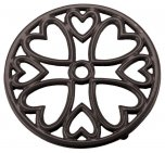 Apollo Housewares Cast Iron Trivet Mini Round Black