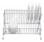 KitchenCraft Chrome Plated Fold Away Dish Drainer, 36cm x 26cm