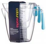 Colourworks Brights Set of Three Polycarbonate Measuring Jug Set Blue