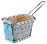 Apollo Housewares Stainless Steel Chip Serving Basket