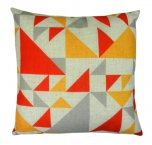 Evans Lichfield Norsk Cushion 43cm Geo Red Ochre