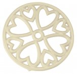 Apollo Housewares Cast Iron Trivet Mini Round Cream